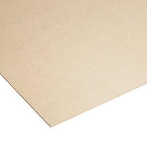 Image of Cut hardboard Brown Softwood Hard board Board (L)1.83m (W)0.61m (T)3mm
