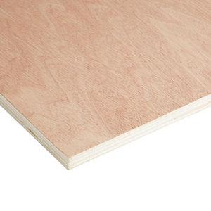 Image of Brown Hardwood Plywood Board (L)2.44m (W)1.22m (T)15mm