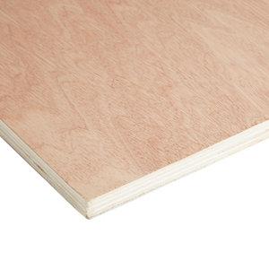 Hardwood Plywood Board (L)2.44m (W)1.22m (T)18mm