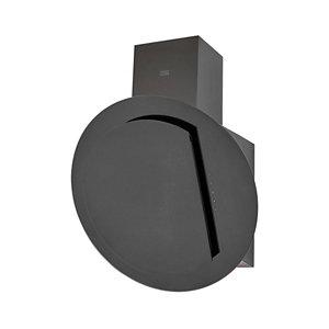 Cooke & Lewis CLRGB60 Black Glass Angled Cooker hood  (W)60cm