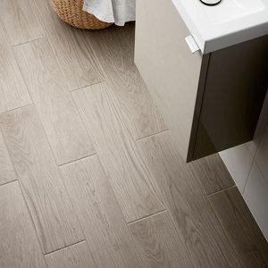 Image of Arrezo Grey Matt Wood effect Porcelain Wall & floor Tile Pack of 14 (L)600mm (W)150mm