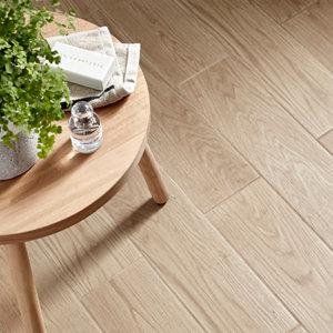 Image of Arrezo Beige Matt Wood effect Porcelain Floor tile Pack of 14 (L)600mm (W)150mm