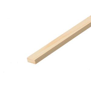 Smooth Square edge Pine Stripwood (L)2.4m (W)15mm (T)6mm