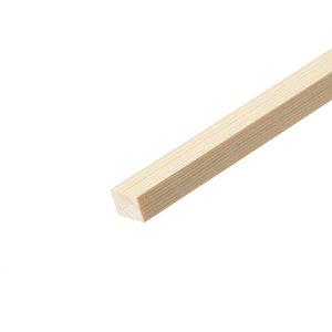 Smooth Square edge Pine Stripwood (L)2.4m (W)25mm (T)21mm