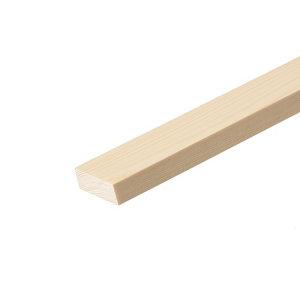 Smooth Square edge Pine Stripwood (L)2.4m (W)68mm (T)25mm