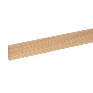 Image of Smooth Square edge Oak Stripwood (L)0.9m (W)46mm (T)10.5mm