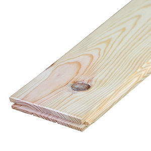 Image of Maritime pine Floorboard (L)2m (W)140mm (T)21mm Pack of 5