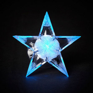 Image of Battery operated Colour changing light function Star Silhouette