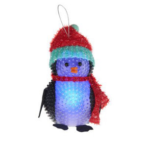 Image of Battery operated Colour changing light function Penguin Silhouette