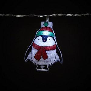 Image of 20 Ice white LED Santa penguin & snowman String lights