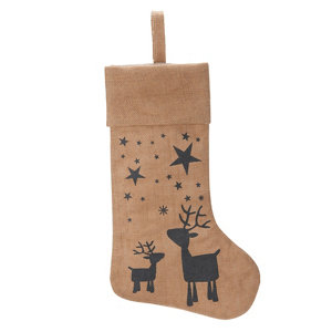 Image of Reindeer woodland print Stocking