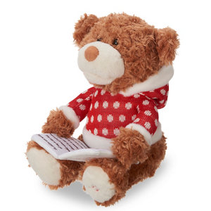 Image of Battery operated Story telling bear Christmas animation