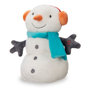 Image of Battery operated LED musical snowman Christmas animation