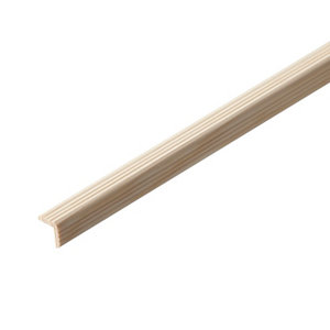 Image of Pine Angled edge Moulding (L)2.4m (W)18mm (T)18mm