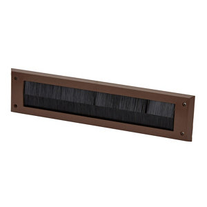 Image of Diall Brown Letterbox draught excluder (H)80mm (W)342mm