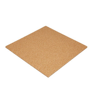 Image of Diall Cork & rubber Acoustic insulation board (L)0.5m (W)0.5m (T)13mm