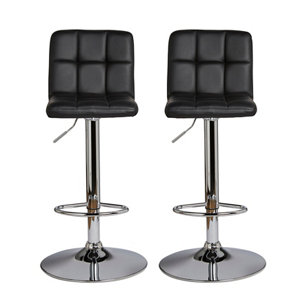 Image of B&Q Lagan Black Bar stool Pack of 2