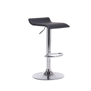 Image of B&Q Daphne Black Swivel Bar stool Pack of 2