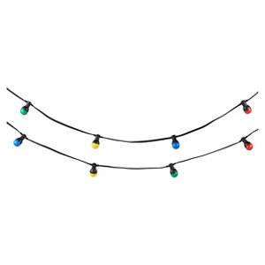 Image of Blooma Barnaby Mains-powered Multicolour 10 LED External String lights