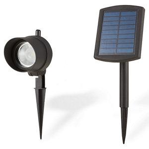 Blooma Bridger Matt Black Solar-powered LED External Spike light