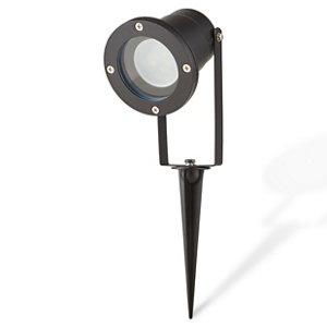 Blooma Shelby Matt Black LED Spike light (D)98mm