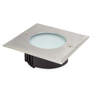 Image of Blooma Flax Brushed Silver effect Mains-powered Neutral white LED Decking light