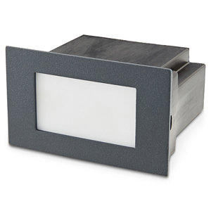 Blooma Neihart Charcoal grey Mains-powered LED Outdoor Brick Wall light 100lm