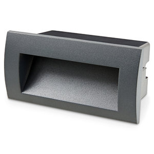 Blooma Sham Charcoal Mains-powered LED Outdoor Brick Wall light 270lm
