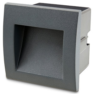 Blooma Sham Matt Charcoal Mains-powered LED Outdoor Brick Wall light 116lm