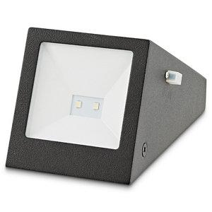 Blooma Plevna Black Solar-powered LED Outdoor Brick Wall light