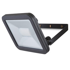 Blooma Weyburn Black Mains-powered Cool white Floodlight 2400lm