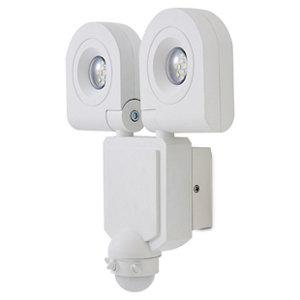 Image of Blooma Dryden Gloss White LED PIR Motion sensor Outdoor Wall light