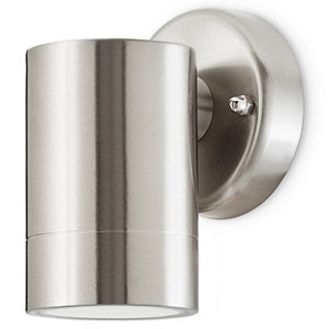 Image of Blooma Candiac Silver effect Mains-powered LED Outdoor Down fixed Wall light 380lm