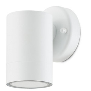 Image of Blooma Candiac Matt White Mains-powered LED Outdoor Wall light 380lm