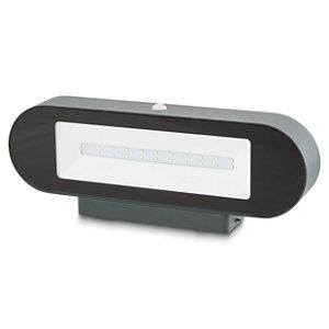 Blooma Noorvik Non-adjustable Matt Black Solar-powered LED Outdoor Wall light