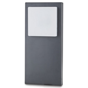 Image of Blooma Lutak Matt Charcoal grey Mains-powered LED Post light