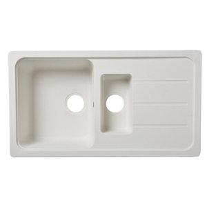Image of Cooke & Lewis Arber White Composite quartz 1.5 Bowl Sink & drainer