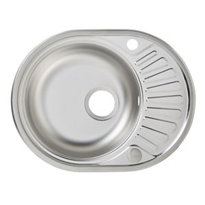 Image of Liebig Satin Stainless steel 1 Bowl Sink & drainer