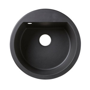 Image of Cooke & Lewis Drexler Black Composite quartz 1 Bowl Sink