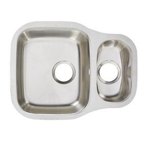 Image of Cooke & Lewis Foucault Inox Stainless steel 1.5 Bowl Sink