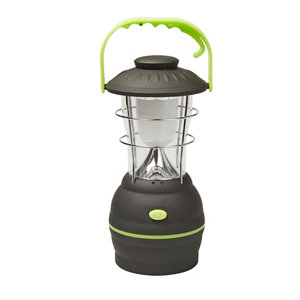 Image of Diall ABS Black & green Battery-powered LED Lantern