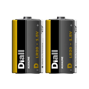 Image of Diall Non rechargeable D (LR20) Battery Pack of 2