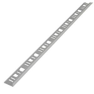 Image of Diall Aluminium Straight Tiling trim 8mm