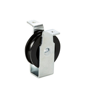 Image of Diall Zinc-plated Black Single wheel Pulley (Dia)40mm