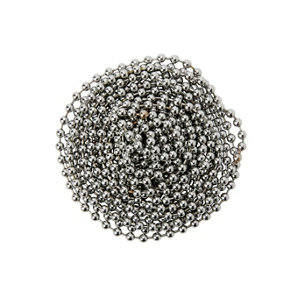 Image of Diall Chrome-plated Brass Bead Chain (L)2.5 (Dia)3.2mm