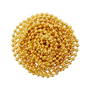 Image of Diall Brass-plated Brass Bead Chain (L)2.5 (Dia)2mm