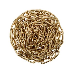 Image of Diall Brass-plated Brass Signalling Chain (L)2.5 (Dia)2mm