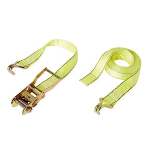 Image of Diall Yellow Ratchet tie down & hook (L)4500mm