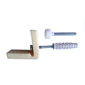 Diall Multicolour Plastic & steel Bidet fixings 50mm  Pack of 2