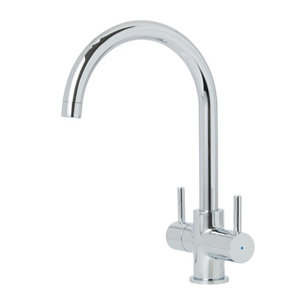 Image of Cooke & Lewis Amsel Chrome effect Kitchen Twin lever Tap